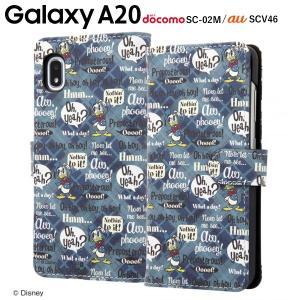 ☆ ディズニー Galaxy A20(docomo SC-02M/au SCV46)専用 手帳型アートケース マグネット/ドナルド_001 IN-DGA20MLC2/DD001|bigstar