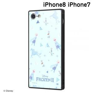 ☆ ディズニー iPhone8 iPhone7(4.7インチ)専用 耐衝撃ケース KAKU トリプルハイブリッド アナと雪の女王2/総柄_01 IQ-DP7K3B/FR002 (メール便送料無料)|bigstar