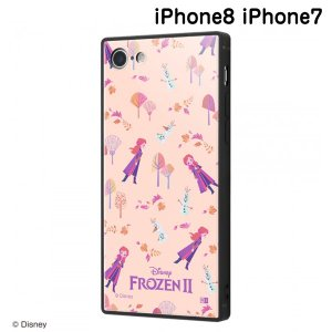 ☆ ディズニー iPhone8 iPhone7(4.7インチ)専用 耐衝撃ケース KAKU トリプルハイブリッド アナと雪の女王2/総柄_02 IQ-DP7K3B/FR003 (メール便送料無料)|bigstar