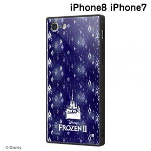 ☆ ディズニー iPhone8 iPhone7(4.7インチ)専用 耐衝撃ケース KAKU トリプルハイブリッド アナと雪の女王2/総柄_03 IQ-DP7K3B/FR007 (メール便送料無料)|bigstar