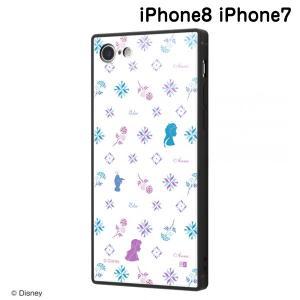 ☆ ディズニー iPhone8 iPhone7(4.7インチ)専用 耐衝撃ケース KAKU トリプルハイブリッド アナと雪の女王2/総柄_04 IQ-DP7K3B/FR008 (メール便送料無料)|bigstar
