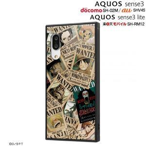 ☆ ワンピース AQUOS sense3 (SH-02M/SHV45)/AQUOS sense3 lite (SH-RM12)専用 耐衝撃ハイブリッドケース KAKU 手配書 IQ-OAQSE3K3TB/OP005 (メール便送料無料)|bigstar