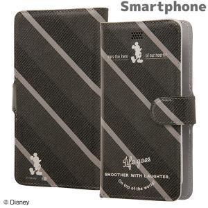 ☆ ディズニー 各種スマートフォン対応 手帳型ケース マグネットミッキーマウス14 IJ-DSPFLC/MK014 bigstar
