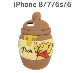 ☆ ディズニー iPhone8/7/6s/6 専用 ソフトケース ダイカット くまのプーさん IN-DP7S6DC1/PO (レビューを書いてメール便送料無料)|bigstar