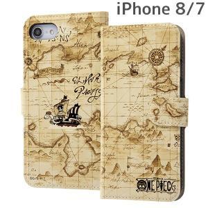 ☆ ワンピース iPhone8 iPhone7(4.7インチ)専用 手帳型ケース マグネット/イーストブルー IJ-OP7MLC/OP010|bigstar