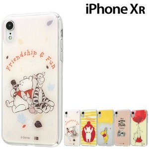 ☆ ディズニー iPhoneXR (6.1インチ) 専用 TPUケース+背面パネル くまのプーさん  IJ-DP18TP/PO(レビューを書いてメール便送料無料)|bigstar
