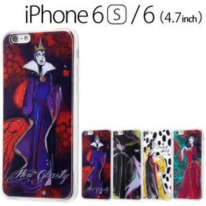 ☆ ディズニー iPhone6s iPhone6 (4.7インチ) 専用 TPUケース+背面パネル ヴィランズ  IJ-DP6TP/DVI(レビューを書いてメール便送料無料)|bigstar