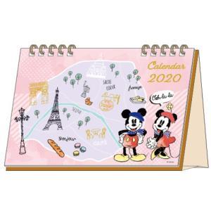 ディズニー (2020年1月始まり) 2020年 デスクカレンダー DC ミッキー&ミニー S851...