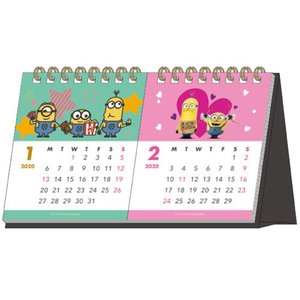 ミニオン (2020年1月始まり) 2020年 デスクカレンダー 2ヶ月 S8518181 bigstar