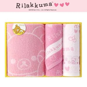 リラックマ グッズリラックマ ハートがいっぱいテーマ ギフトボックス(バスタオル1枚・フェイスタオル2枚) RKG3004|bigstar