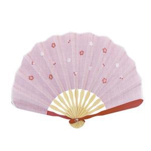 ☆ 和花刺繍シェル扇子セット 桜 KC18-1003-01|bigstar