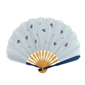 ☆ 和花刺繍シェル扇子セット 朝顔 KC18-1003-02|bigstar