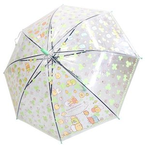 (同梱不可)☆ すみっコぐらし ひやひやすみっこさんぽテーマ ジャンプ゜傘 グリーン 187|bigstar