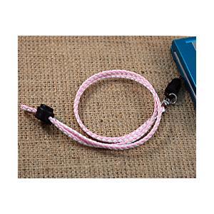 レザーネックストラップ ピンク×ホワイト NDS-25 J105-700931|bigstar