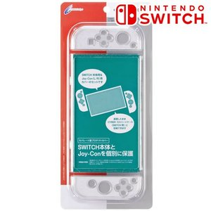 [CYBER] Nintendo Switch 専用 プロテクトカバー セパレート クリアラメ CY-NSPTCS-CLL bigstar
