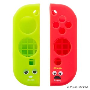 CYBER Nintendo Switch 専用 Joy-Con 用 ガチャピン×ムック シリコングリップカバー CY-GMNSJCGC-GM|bigstar