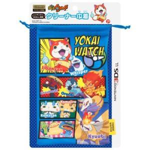 [CYBER] 妖怪ウォッチ 3DS LL 対応 クリーナー巾着 ブルー YWGO1-2 bigstar