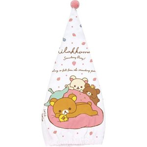 (4) リラックマ ストロベリーパーティーテーマ サマーグッズ キャップタオル CM01801|bigstar