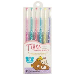 (10) リラックマ キャラミックス SAKURA ボールサイン TIARA ティアラ 6本セット (ケース入り) PP40301|bigstar
