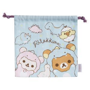 (7) リラックマ リラックマのきょうりゅうごっこテーマ 巾着 CA01101|bigstar