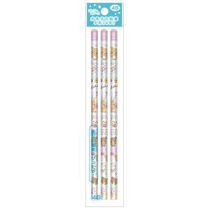 (11月下旬〜12月上旬)リラックマ ゴーゴースクール2021 スウィートラブリーシリーズ かきかた鉛筆 3本セット (4B) PH02501 bigstar