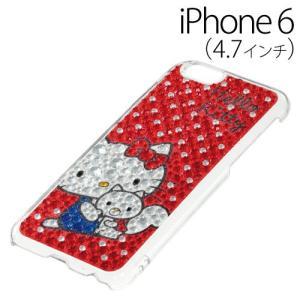 ▲ iDress ハローキティ iPhone6 (4.7インチ) 専用 ジュエリーカバー レッドドット iP6-KT02 bigstar