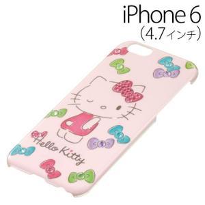▲ iDress ハローキティ iPhone6 (4.7インチ) 専用 ジュエリーカバー ナチュラルリボン iP6-KT05 bigstar