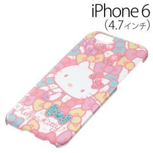▲ iDress ハローキティ iPhone6 (4.7インチ) 専用 ジュエリーカバー ミルキーリボン iP6-KT08 bigstar