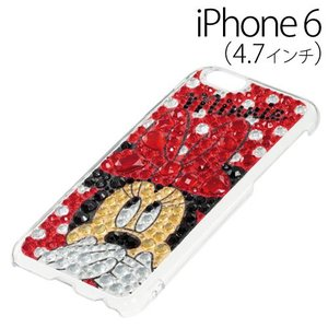 ▲ iDress ディズニー iPhone6 (4.7インチ) 専用 ジュエリーカバー ミニーマウス iP6-DN02 bigstar