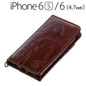 ☆ iDress スターウォーズ iPhone6s iPhone6 (4.7インチ) 専用 ダイカットカバー ブラウン i6S-SW02 bigstar