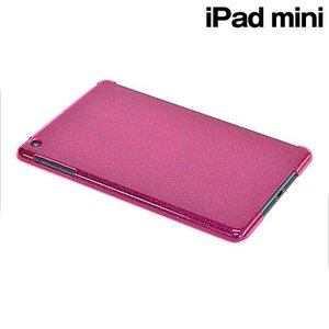 □ iPad mini 専用 ハードケース ラメクリアマゼンタ X606IPAD