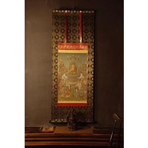 釈迦十六善神図 仏画掛け軸 半切サイズ|bigstar