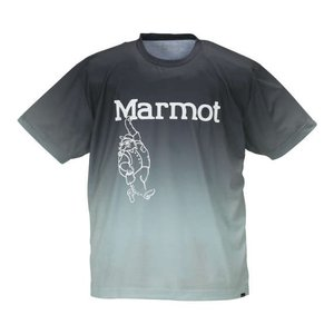 【Marmotグラデーションマーヴィン半袖Tシャツ】 吸水速乾機能でアウトドアライフをエンジョイ!グ...