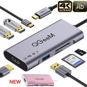 Type-C hub ハブ 7in1 HDMI 4K USB3.0 PD対応 SDカード micro...