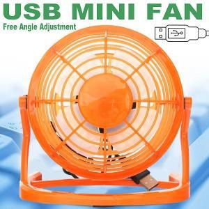 扇風機10%OFF【涼しい〜】この夏の節電★とっても静かな☆上下に角度調整可能☆USB扇風機★オレンジ