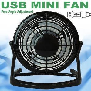 扇風機10%OFF【涼しい〜】この夏の節電★とっても静かな☆上下に角度調整可能☆USB扇風機★黒