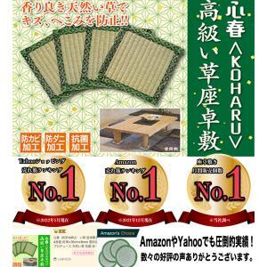 心春(KOHARU) い草 座卓敷き 4枚組 約16×16cm×6mm 畳材店プロデュース 天然い草...