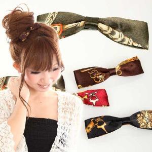 ヘアアクセサリー バレッタ クラシカル リボン M9cm おだんごやまとめ髪のアクセントに bijinkoeido