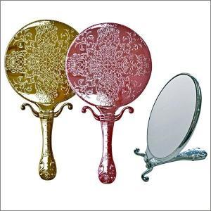 トゥウィンクルミラー ハンド&スタンドミラーお姫様ミラー  あすつく 姫ミラー 手鏡 ハンド  スタンドミラー Y-1505 ヤマムラ(プレゼント ギフト)|bijinsyokunin