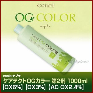 ナプラ ケアテクトOGカラー2剤/1000ml あすつく (5個で送料無料)(OX6%)(OX3%)(AC OX2.4%)(医薬部外品)(※一般の方には販売致しません)(プレゼント ギフト)|bijinsyokunin
