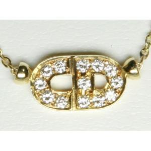 Dior クリスチャン・ディオール K18 YG ダイヤ ネックレス 18K|bijou-shop