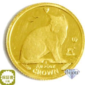 K24 マン島 キャット金貨 コイン 1/25oz 1.24g 1990年 招き猫 純金 bijou-shop