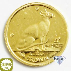 K24 マン島 キャット金貨 コイン1/10oz 3.11g 1992年 招き猫 純金|bijou-shop