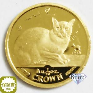 K24 マン島 キャット金貨 コイン1/10oz 3.11g 1996年 招き猫 純金|bijou-shop