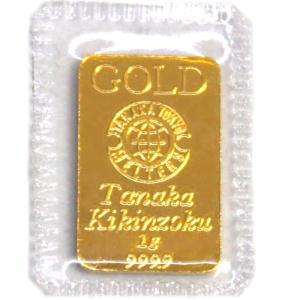 純金 インゴット 田中貴金属 1g (ラミネート未開封)  K24  純金 TANAKA  INGOT 公式国際ブランド グッドデリバリー バー|bijou-shop