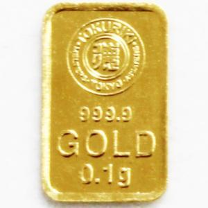 純金 インゴット 徳力 0.1g K24 TOKURIKI INGOT 公式国際ブランド グッドデリバリー バー ゴールド バー|bijou-shop