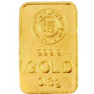 純金 インゴット 徳力 0.3g K24 TOKURIKI INGOT 公式国際ブランド グッドデリバリー バー ゴールド バー|bijou-shop