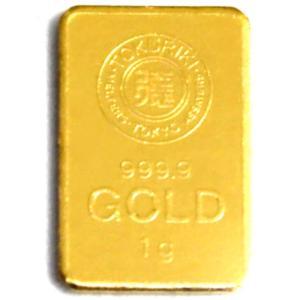 純金 インゴット 徳力 1g K24 TOKURIKI INGOT 公式国際ブランド グッドデリバリー バー ゴールド バー|bijou-shop