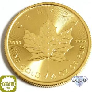 メイプル金貨 1/2オンス 透明ラミネートパック未開封品 純金 (99.99%) K24 15.5g (1982年〜ランダムイヤー)送料無料|bijou-shop