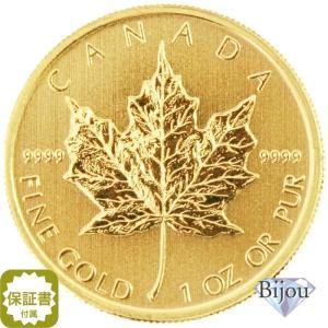 メイプルリーフ金貨 1オンス (中古流通品)  輝きがあり美しいですが、保管キズや小さなスレなどござ...